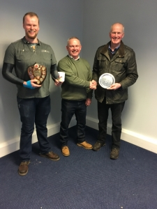A delighted Austin & Robert Shaw collecting prizes from our Club President, John Cumming